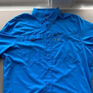 Men Under Armour button down breathable shirt